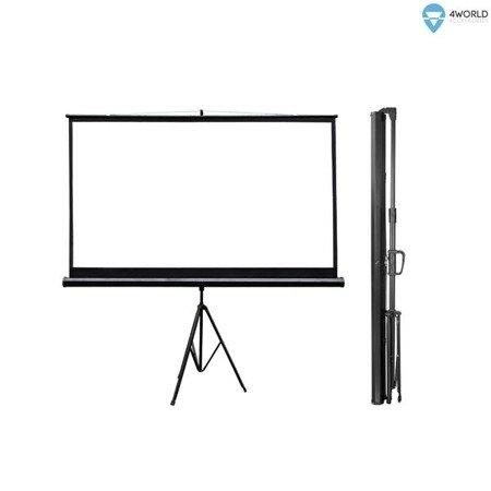 4World Ekran projekcyjny na statywie 186x105 (84'', 16:9) Matt White