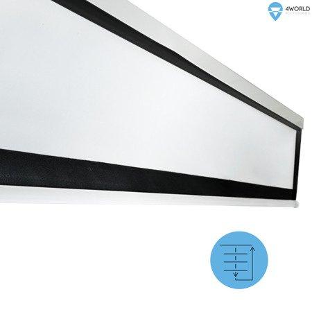 4World Elektryczny ekran projekcyjny z pilotem 305x228 ścienny, sufitowy (4:3) Matt White