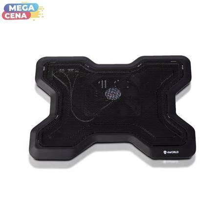 4World Podstawka chłodząca do laptopa, 16'', 1x 120 mm, czarna