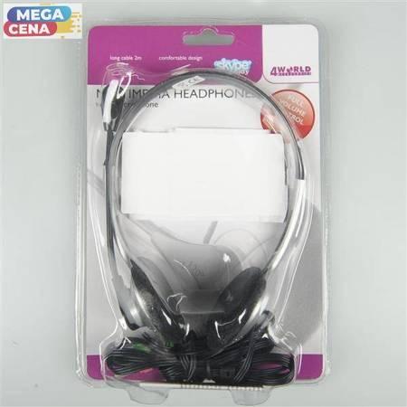 4World Słuchawki z mikrofonem (HJ-900MV)