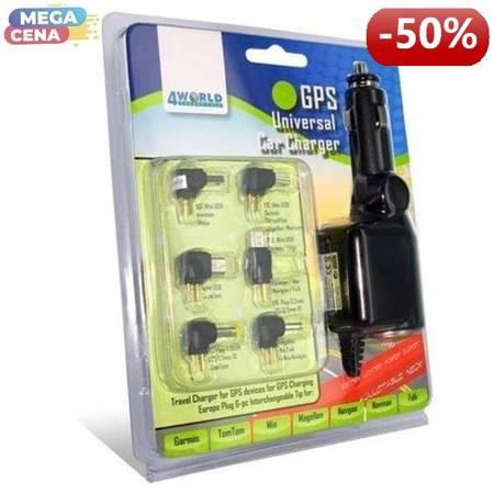 4World Uniwersalna ładowarka samochodowa GPS