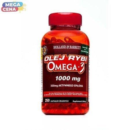Olej Rybi Omega-3 dla Pescowegetarian 1000mg 250 Kapsułek Żelowych
