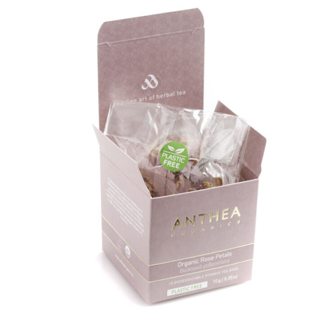 Organic rose petals plastic free tea bags