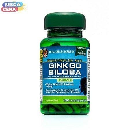 Produkt Wegański Maksymalna Siła Ginkgo Biloba 120mg 100 Kapsułek