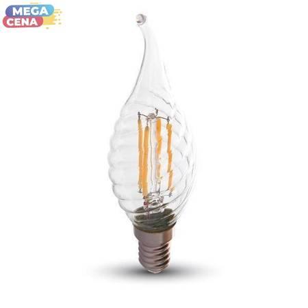 V-TAC Żarówka LED VT-1995 E14 35x121mm 4Wat 2700K 400lm Filament Glass A+ 300stopni