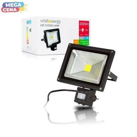 Whitenergy Naświetlacz LED 20W|6000K|2000lm|IP65|czujka ruchu