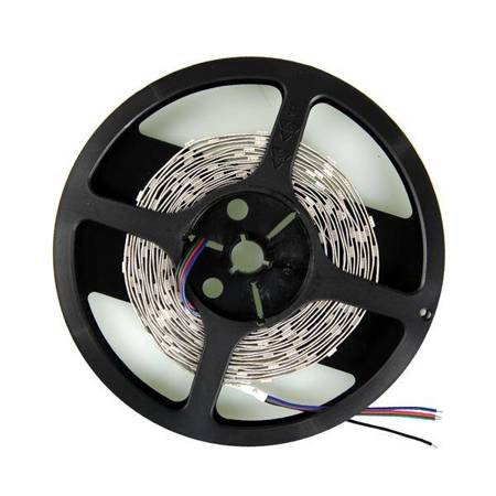 Whitenergy Taśma LED 5m 30szt/m SMD5050 7.2W/m 12V IP20 10mm RGB bez konektora
