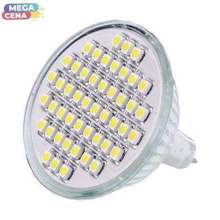 Whitenergy Żarówka LED 2.5W  GU5.3 MR16 SMD3528 zimna 12V Halogen / bez szybki