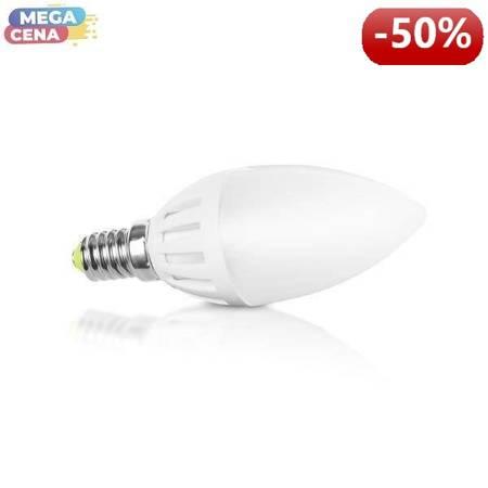 Whitenergy Żarówka LED 2W  E14 C37 SMD3014 ciepła 230V Świeczka / mleczne