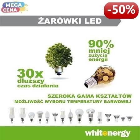 Whitenergy Żarówka LED 3W  E14 C35 SMD5050 ciepła 230V Świeczka / transparentne