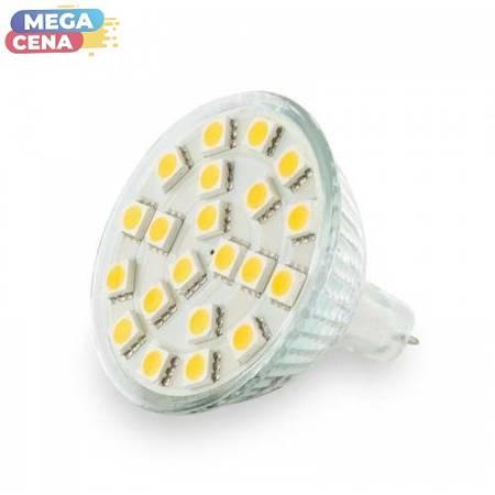 Whitenergy Żarówka LED 3W  GU5.3 MR16 SMD5050 ciepła 12V Halogen / bez szybki