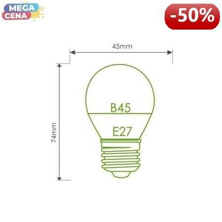 Whitenergy Żarówka LED 5W  E27 B45 400lm SMD2835 ciepła 230V  Kulka / mleczne