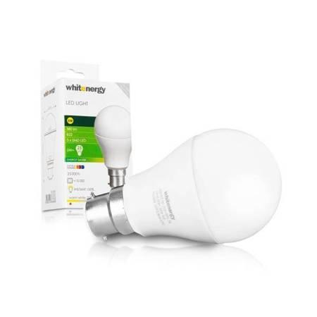 Whitenergy Żarówka LED A60 B22 5W 380lm Ciepła biała Mleczna