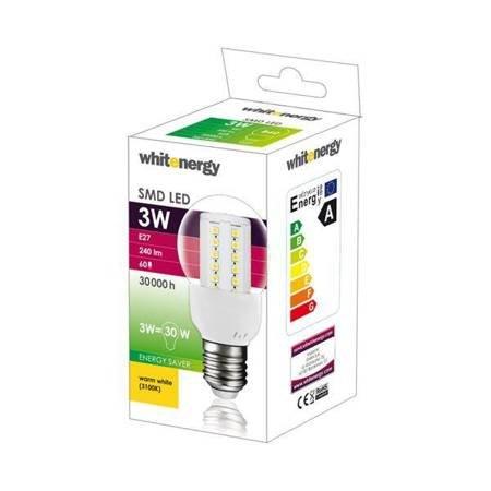 Whitenergy Żarówka LED B60 E27 3W 240lm Ciepła biała Szkło