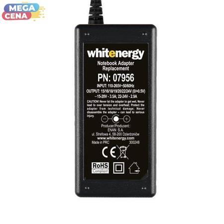 Whitenergy Zasilacz AC Ładowarka do laptopa uniwersalna 70W 15-24V 3.5A 10 wtyczek manualny