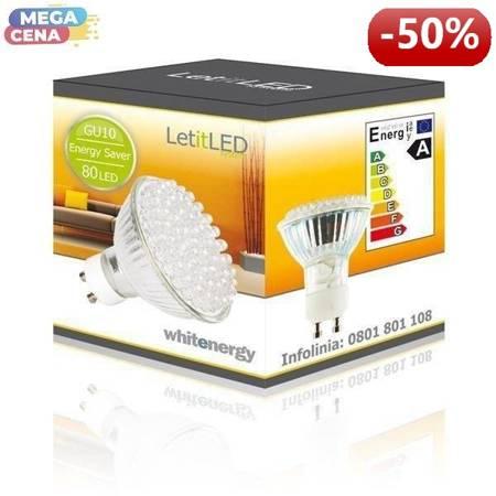 Whitenergy Źródło LED|80xDIP|MR16|GU10|3W|230V|ciepłe białe|bez szybki