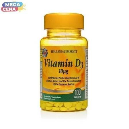 Witamina D3 10 ug 100 Tabletek