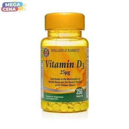 Witamina D3 25 ug 250 Tabletek