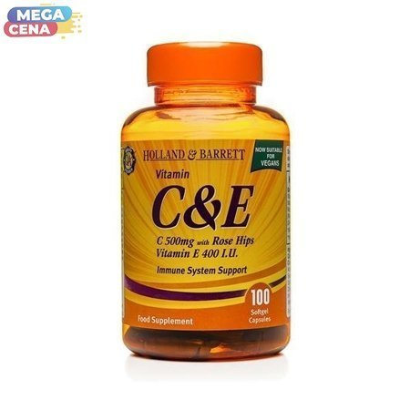 Witaminy C i E 500 mg 100 Kapsułek Żelowych Produkt Wegański