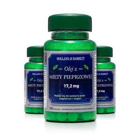 Zestaw 2+1 (Gratis) Olej z Mięty Pieprzowej 150 Tabletek