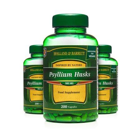 Zestaw Suplementów 2+1 (Gratis) Babka Jajowata Łuska 500 mg Produkt Wegański 200 Kapsułek