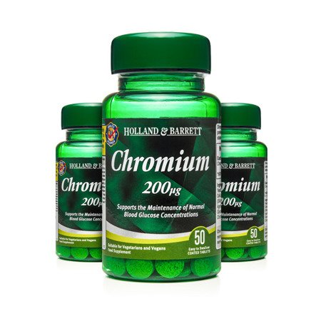 Zestaw Suplementów 2+1 (Gratis) Chrom 200 ug 50 Tabletek
