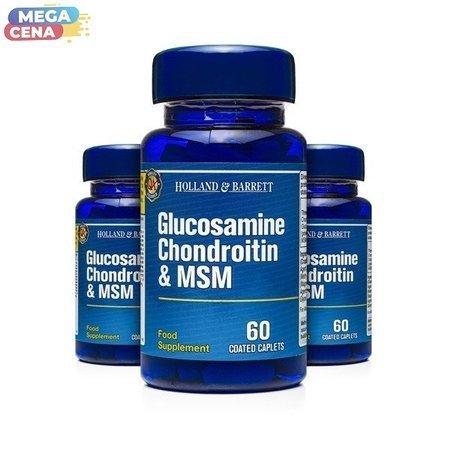 Zestaw Suplementów 2+1 (Gratis) Glukozamina Chondroityna i MSM 60 Kapletek