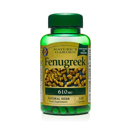 Zestaw Suplementów 2+1 (Gratis) Kozieradka 610 mg Produkt Wegański 100 Kapsułek