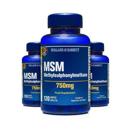 Zestaw Suplementów 2+1 (Gratis) MSM 750 mg 120 Kapletek
