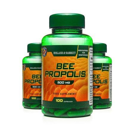 Zestaw Suplementów 2+1 (Gratis) Propolis 500 mg Produkt Wegetariański 100 Kapsułek