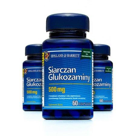 Zestaw Suplementów 2+1 (Gratis) Siarczan Glukozaminy dla Pescowegetarian 60 Kapsułek 500mg