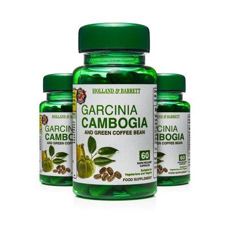 Zestaw Suplementów 2+1 (Gratis) Tamaryndowiec Garcinia Cambogia z Zieloną Kawą 60 Kapsułek