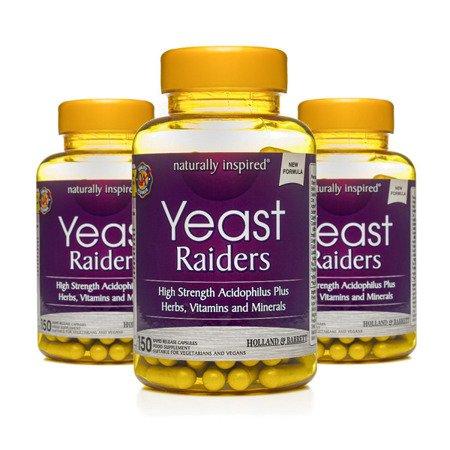 Zestaw Suplementów 2+1 (Gratis) Yeast Raiders Probiotyk 150 Kapsułek