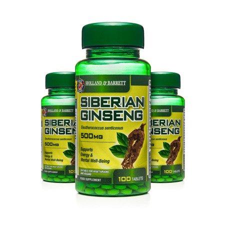Zestaw Suplementów 2+1 (Gratis) Żeń-szeń Syberyjski 500 mg 100 Tabletek