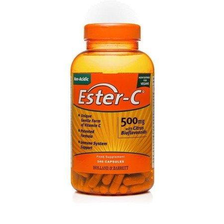 Zestaw Witamin 2+1 (Gratis) Ester C Niekwasowa Witamina C z Bioflawonoidami 500 mg 240 Kapsułek Żelowych Produkt Wegański